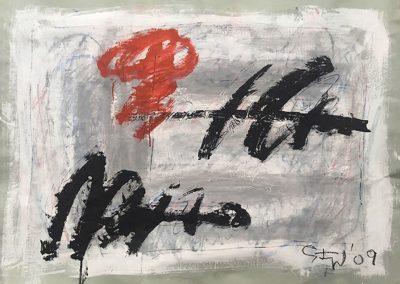 tempere su carta intelata, 72,5x101,5 cm,2009