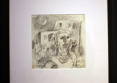 Disegno 2 XII, carboncino,1993