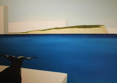 Oltremare, olio su tavola, 80x140 cm,2007